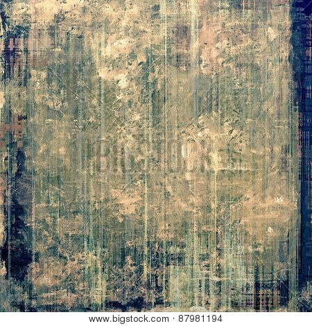 Antique vintage background. With different color patterns: blue; brown; gray; green