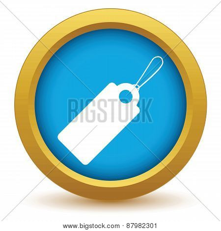 Gold price tag icon