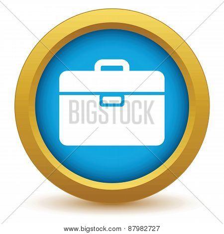 Gold bag icon