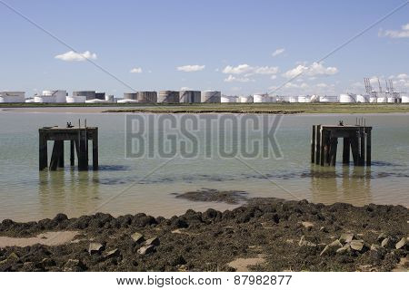 Platforms At Holehaven Creek, Canvey Island, Essex, England