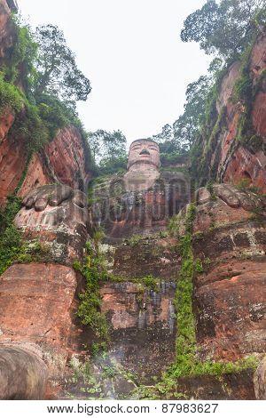 The Huge Buddha Statue In Leshan