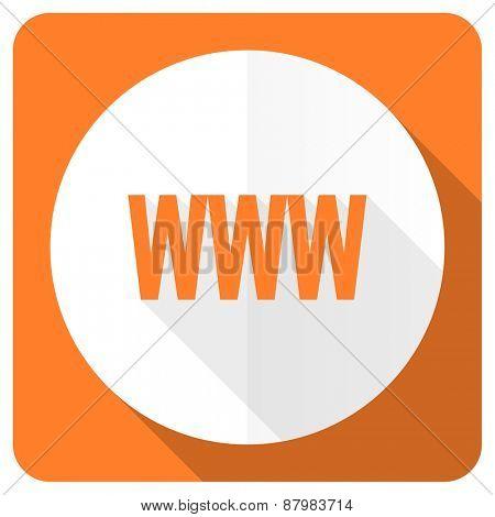 www orange flat icon