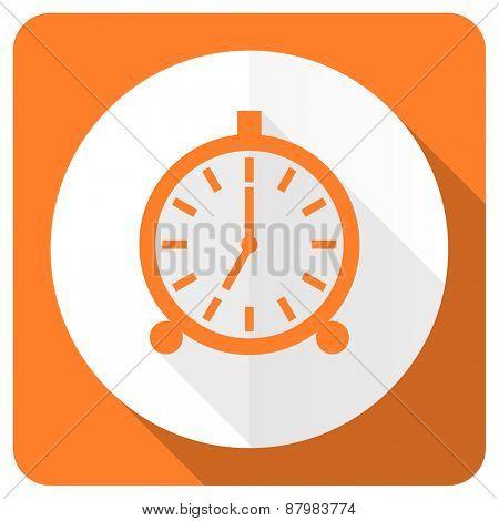 alarm orange flat icon alarm clock sign