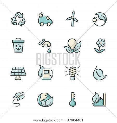 Renewable Energy Icons