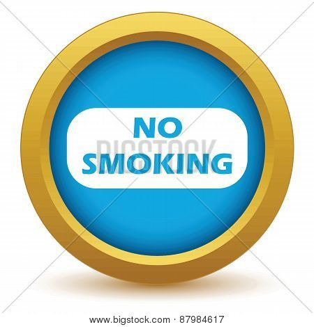 Gold no smoking icon