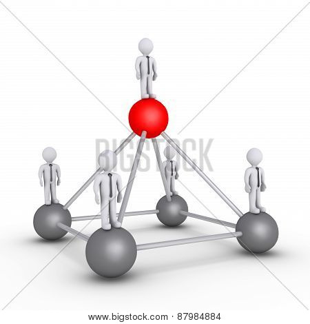 Boss And Businessmen Hierarchy Power Concept