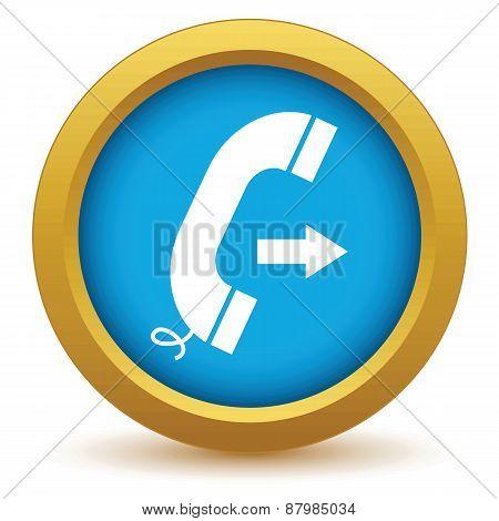 Gold outgoing call icon