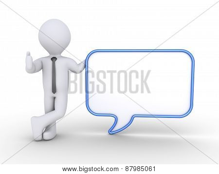 Businessman And Speech Bubble