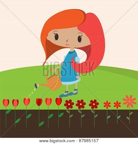 Girl flowers 2