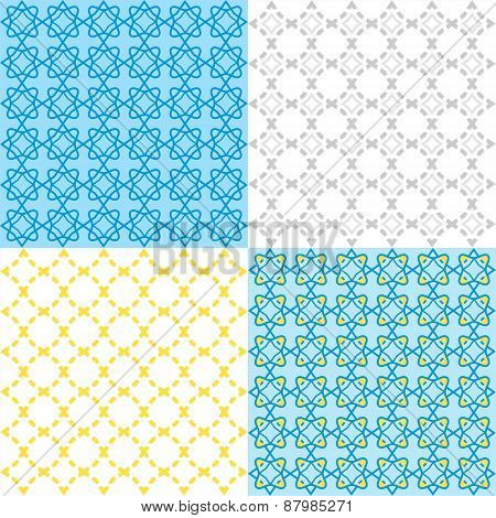 Seamless Geometric Arabic Pattern - Illustration