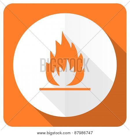 flame orange flat icon
