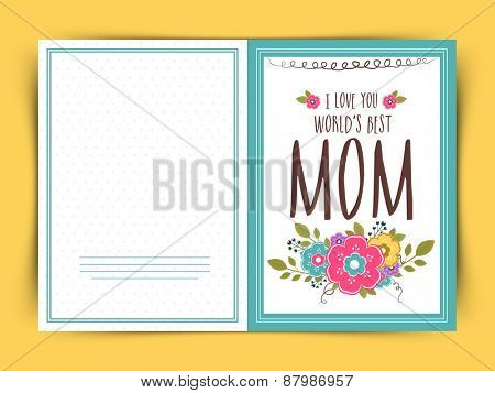Happy Mother's Day celebration greeting card decorated with colorful flowers.