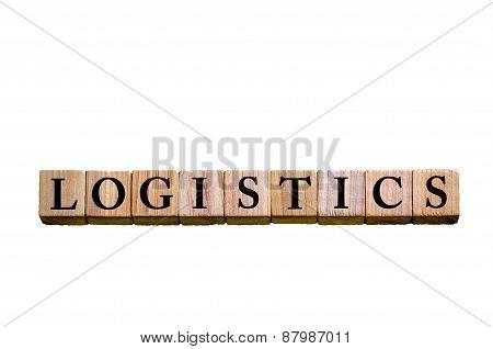 Word Logistics Isolated On White Background
