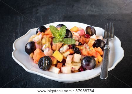 Fruit Salad In The Plate