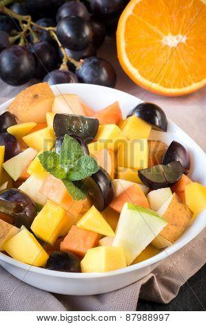 Salad With Sliced Fruit