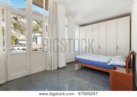 Architecture, apartment furnished, bedroom view