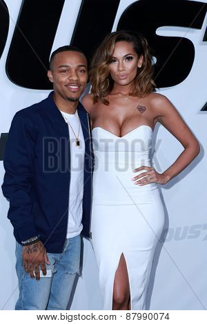 LOS ANGELES - FEB 1:  Bow Wow, Erica Mena, aka Shad Moss at the