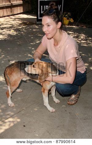 LOS ANGELES - FEB 14:  Whitney Cummings at the The Beagle Freedom Project at the Private Location on April 14, 2015 in Valley Village, CA