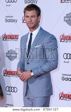 LOS ANGELES - FEB 13:  Chris Hemsworth at the