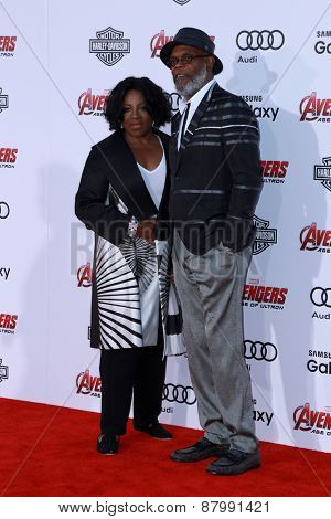 LOS ANGELES - FEB 13:  LaTanya Richardson, Samuel L. Jackson at the