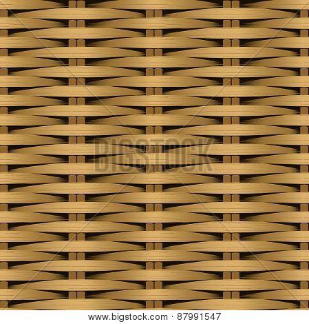 Cane Flat Woven Fiber Seamless Pattern