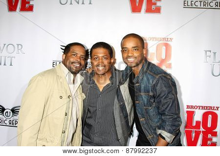 LOS ANGELES - FEB 13:  Larenz Tate, brothers at the
