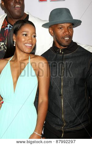 LOS ANGELES - FEB 13:  Keke Palmer, Jamie Foxx at the