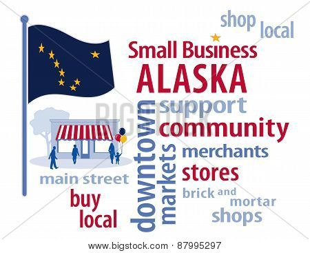 Alaska Flag, Small Business