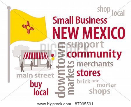 New Mexico Flag, Small Business