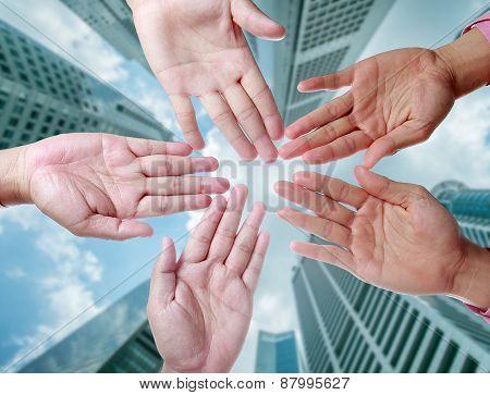 Businessman Teamwork With Hand Together