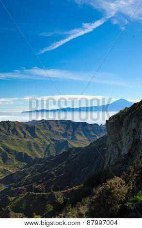 La Gomera, Veiw Towards Teide