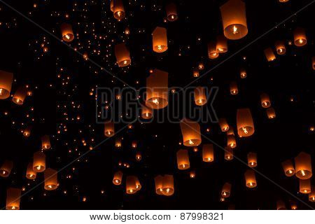 Sky lanterns, Flying Lanterns