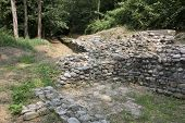 image of fortified wall  - Archaeological site of Castelseprio  - JPG