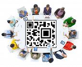 pic of qr codes  - QR Code Identity Marketing Data Concept - JPG