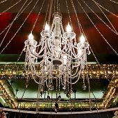 image of chandelier  - Closeup decoration design of Contemporary glass chandelier  - JPG