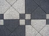 picture of paving stone  - black white block paving background  - JPG