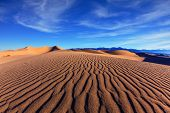 stock photo of mesquite  - Thin waves on sand - JPG