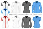 pic of blouse  - Short and long sleeve blouses for lady - JPG