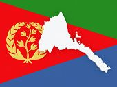 stock photo of eritrea  - Map of Eritrea - JPG