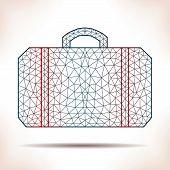 picture of interpreter  - Geometric suitcase - JPG