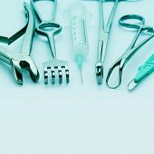 stock photo of surgical instruments  - Close - JPG