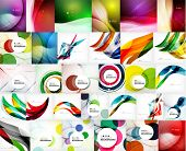 pic of shapes  - Mega set of wave abstract backgrounds  - JPG