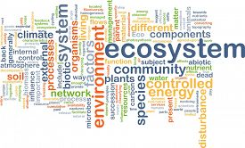 stock photo of ecosystem  - Background text pattern concept wordcloud illustration of ecosystem - JPG