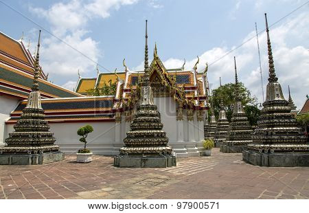 Small pagodas called Phra Chedi Rai at Wat Phra Kaew, Emerald Buddha Temple