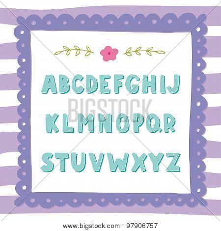 Hand Drawn Doodle Alphabet
