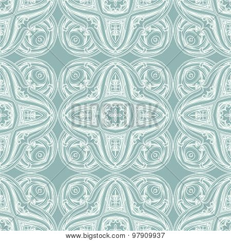 Vector seamless pattern. Lineart. Ornamental background. Hand-Pa