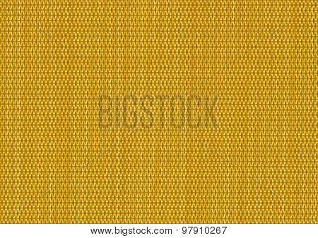 close up yellow background curtain of criss cross fabric texture detail