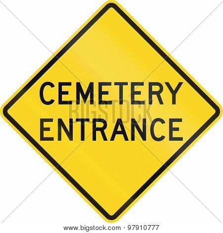 Cemetary Entrance In Canada