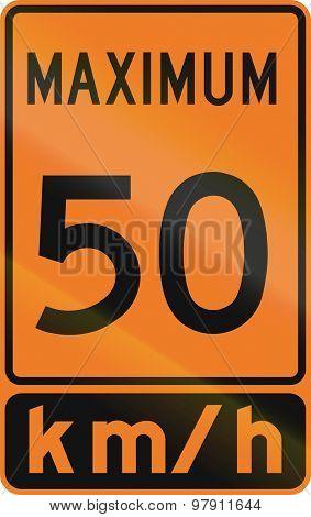 Temporary Maximum Speed 50 Kmh In Canada
