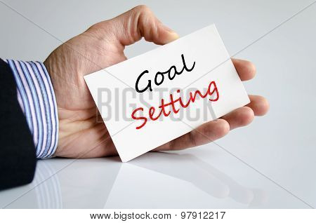 Goal Setting Text Concept